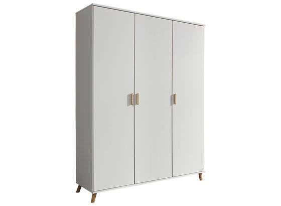 Skriňa Falun - biela, Moderný, kompozitné drevo (137/203/53cm)