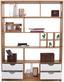 Raumteiler Meggy - Eichefarben/Weiß, MODERN, Holz (140/184/32cm)