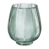 Vase Leaves 18 X 20 cm - Grün, Natur, Glas (18/20cm)