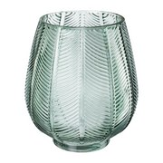 Vase Leaves - Grün, Natur, Glas (18/20cm)