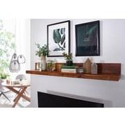 Wandregal Mumbai B: ca. 80 cm Sheesham - Sheeshamfarben, MODERN, Holz (80/17/23cm) - Livetastic