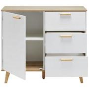 Komoda Claire - prírodné farby/biela, Moderný, drevo (96/85/42cm) - Modern Living