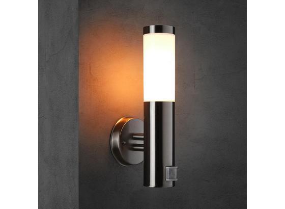 Vonkajšia Lampa Serge So Senzorom Pohybu - farby ušľachtilej ocele, Moderný, kov (15,5/7,6/38cm) - Modern Living