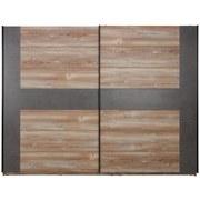 Skriňa S Posuvnými Dvermi Chanton - borovicová/sivá, Štýlový, umelá hmota/kov (270/210/63cm) - Based