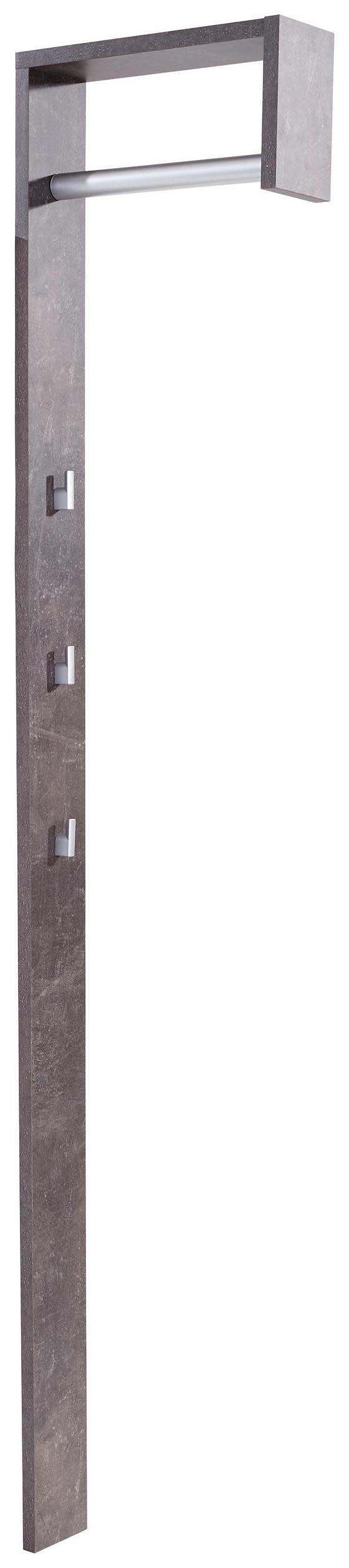 Előszoba Panel Senex - Sötétszürke, modern, Faalapú anyag (10/170/33cm)