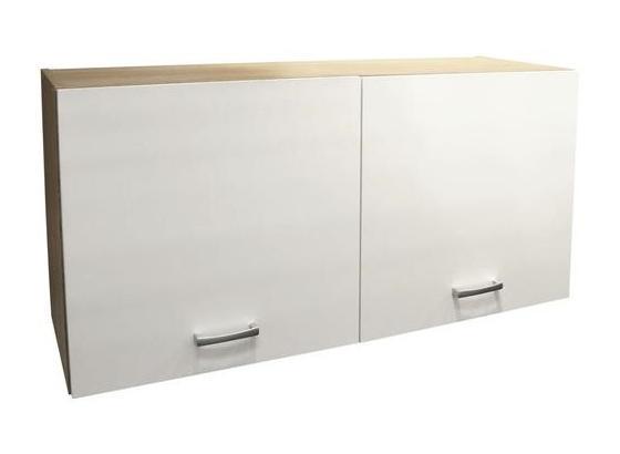 Küchenoberschrank Andy B:50 cm Eiche Dekor, Weiß - Eichefarben/Weiß, Basics, Holzwerkstoff (100/50/33cm) - Xora
