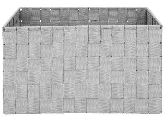 Koš Charlotte - světle šedá, kov/umělá hmota (33,5/23,5/18cm) - Mömax modern living