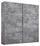 Schwebetürenschrank Belluno 181 cm Grau - Grau, MODERN, Holzwerkstoff (181/210/62cm)
