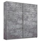 Schwebetürenschrank Belluno 181 cm Stone Dekor - Grau, MODERN, Holzwerkstoff (181/230/62cm)
