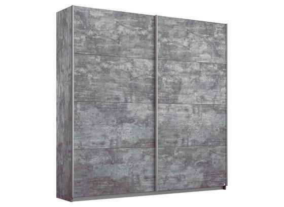 Schwebetürenschrank Belluno B:181cm Stone Grey Dekor - Grau, MODERN, Holzwerkstoff (181/210/62cm)