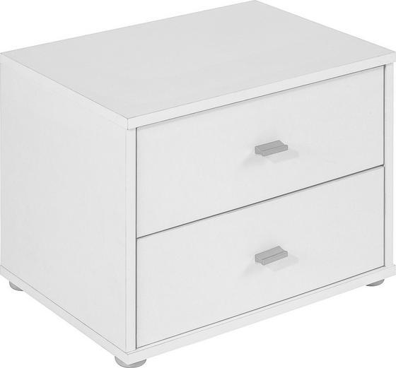 Nočný Stolík 4-you Yuk12  *cenový Trhák* - biela, Konvenčný, drevený materiál (50/38.1/35.2cm)