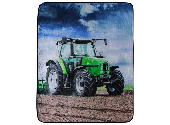 Kuscheldecke Traktor - Multicolor, MODERN, Textil (130/160cm)