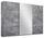 Schwebetürenschrank Belluno 271 cm Stone/spiegel - Grau, MODERN, Holzwerkstoff (271/210/62cm)