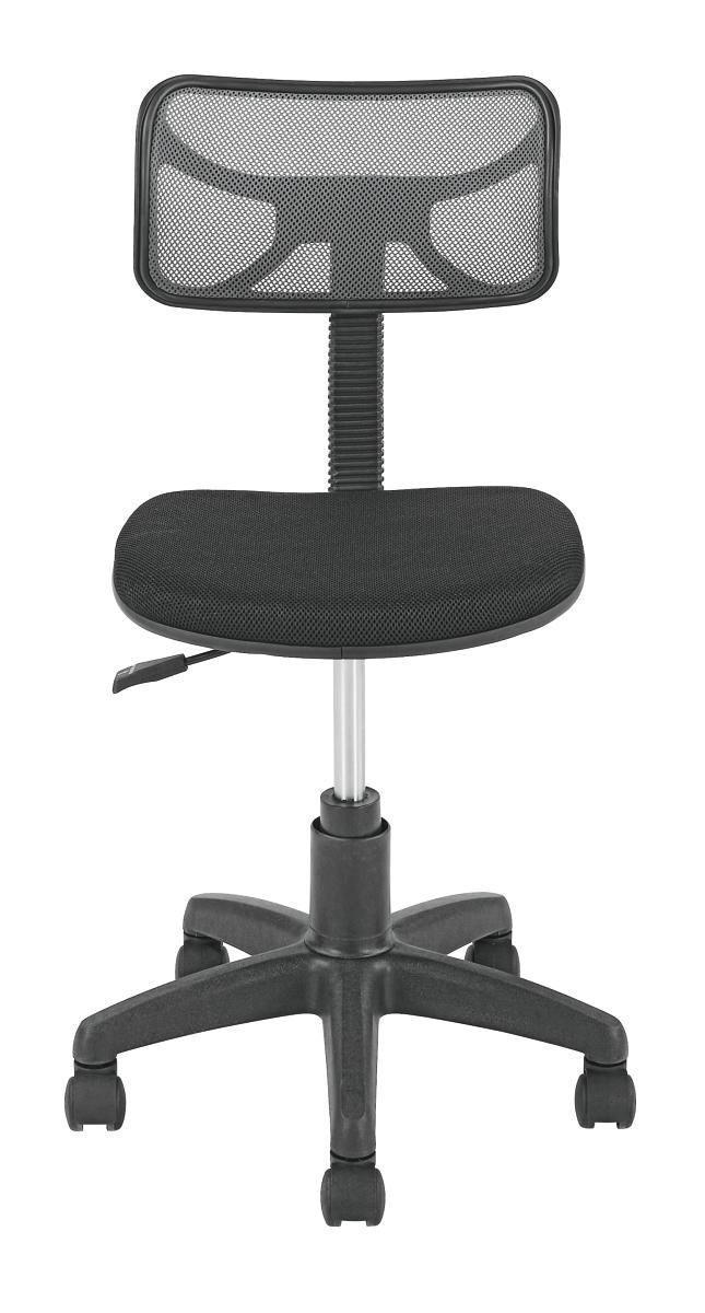 Forgószék Tom - fekete/szürke, modern, műanyag/textil (41/77-89/48cm)