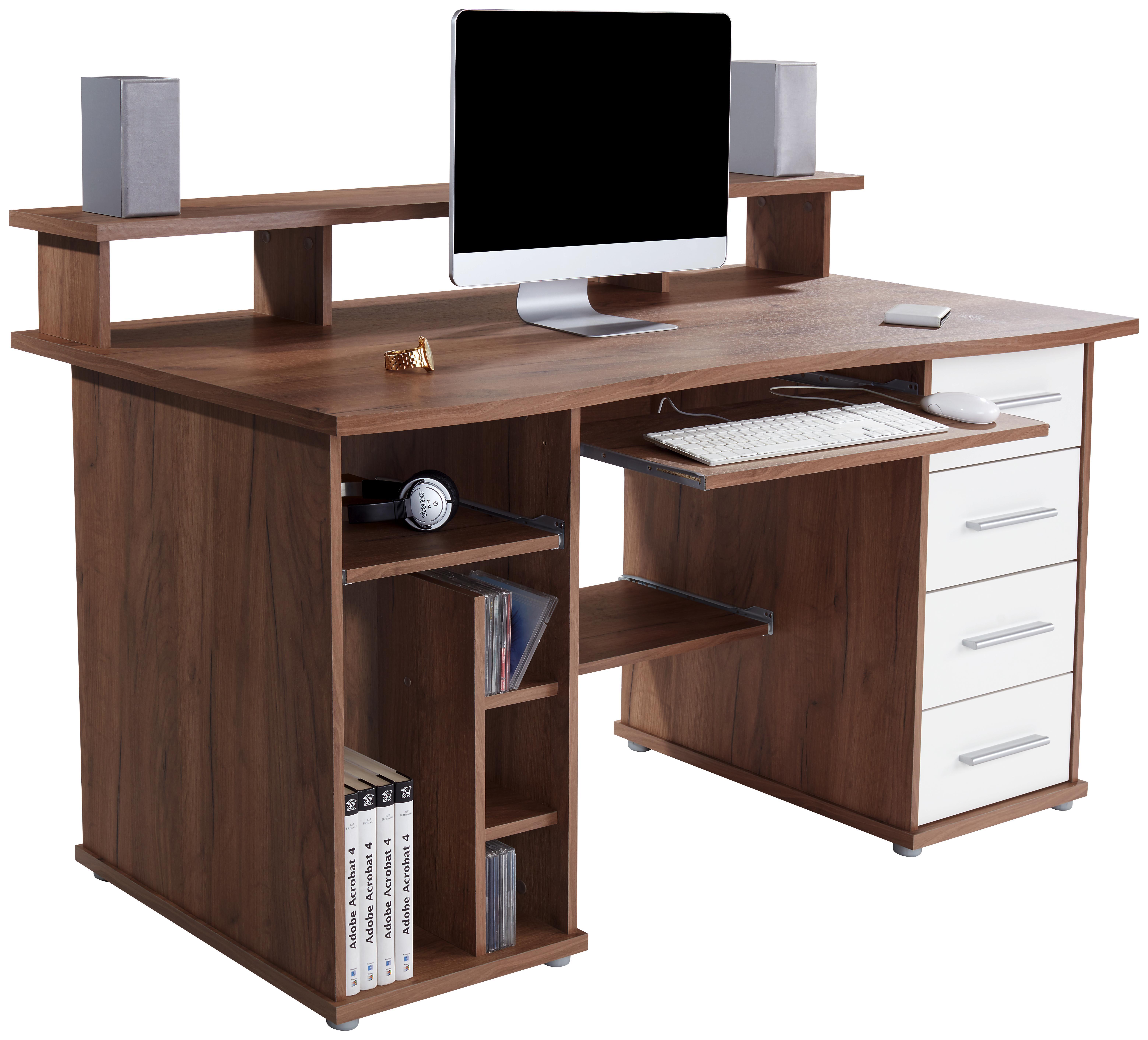 Schreibtisch FRANZ in Eiche Kraft Dunkel