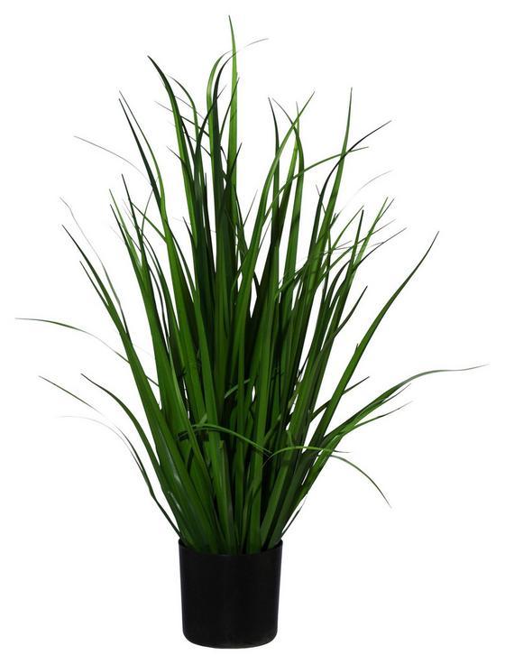 Kunstpflanze Schilfgras - Grün, MODERN, Kunststoff (78cm)