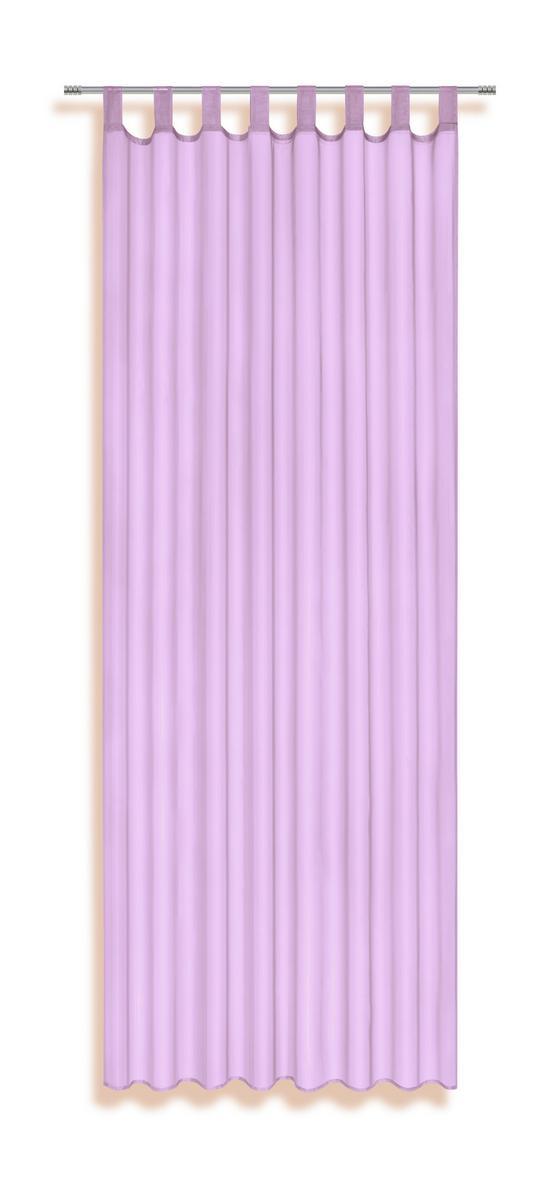 Schlaufenvorhang Utila - Lila, KONVENTIONELL, Textil (140/245cm) - Ombra