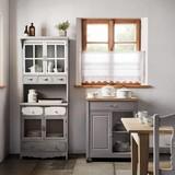 Kredenc Gitte - bílá/šedá, Moderní, kov/dřevo (70/176/33,5cm) - MÖMAX modern living