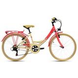 Kinderfahrrad Kinderrad 24'' Kahuna - Beige/Rot, Basics, Metall