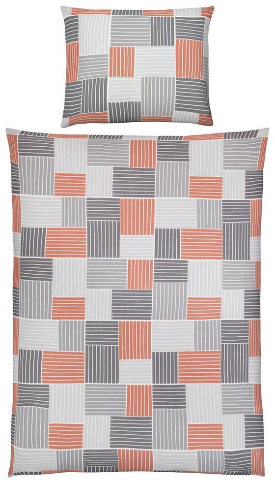 Bettwäsche Amina - Orange/Grau, MODERN, Textil - Luca Bessoni