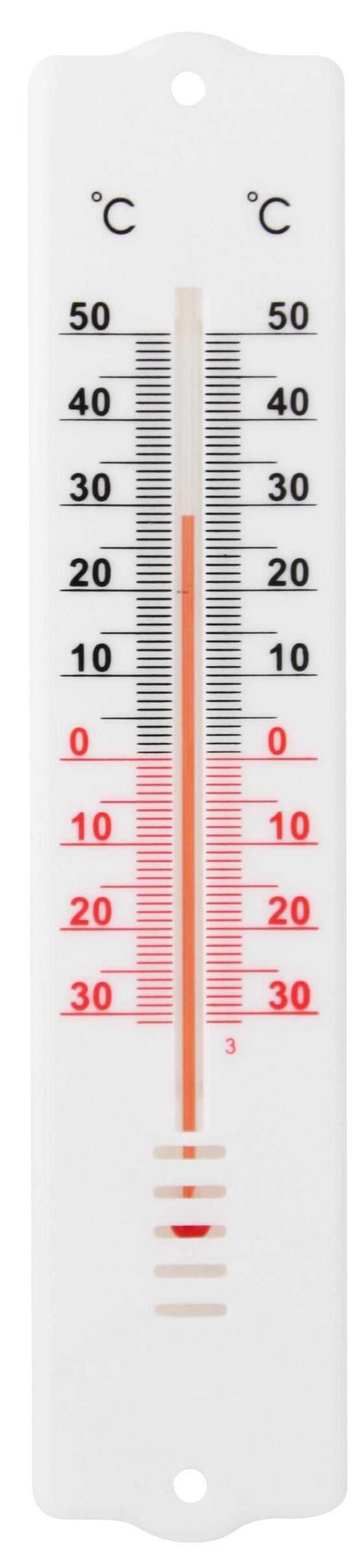 Thermometer Probus - Weiß, KONVENTIONELL, Kunststoff (20cm) - Homeware