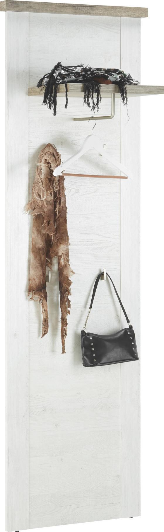 Nástěnný Panel Duro - barvy dubu/barvy pinie, kov/dřevěný materiál (61,4/199,2/34,1cm)
