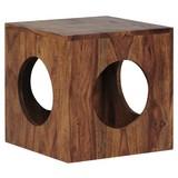 Beistelltisch Mumbai L: ca. 35 cm - Sheeshamfarben, Design, Holz (35/35/35cm) - Carryhome
