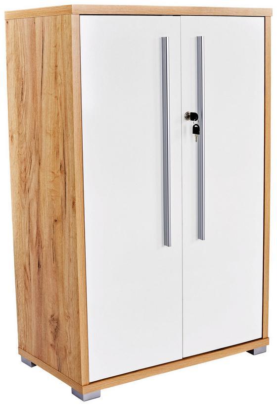 Skříň Na Spisy Profi - bílá/barvy dubu, Moderní, dřevěný materiál (75/113/35cm) - Ombra