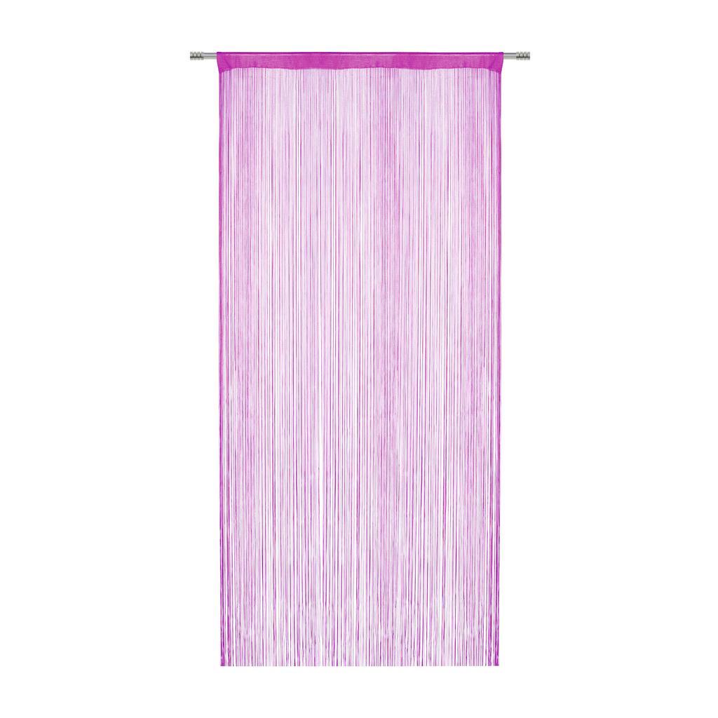 Provázková Záclona Franz, 90/245 Cm, Růžová