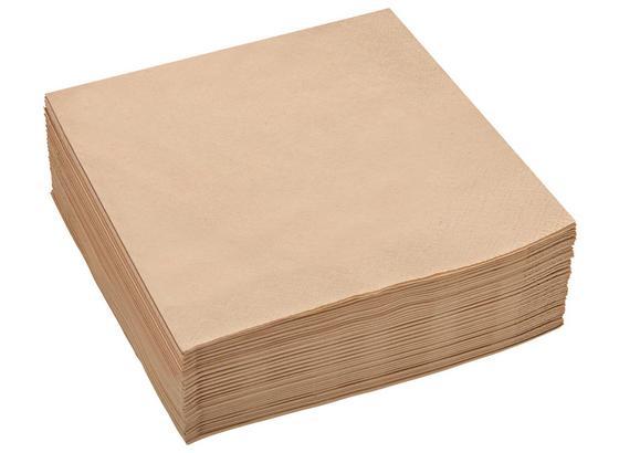 Ubrousek Kathleen -top- - cappuccino, papír (33/33cm) - Mömax modern living