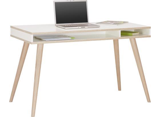 Písací Stôl Billund - farby dubu/biela, Moderný, drevo/kompozitné drevo (120/75/60cm) - Modern Living