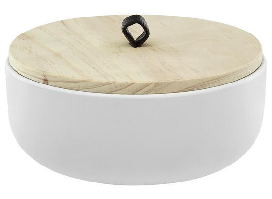 Dekoračná Krabica Sherine - biela, Štýlový, kompozitné drevo/plast (18/7.5cm)