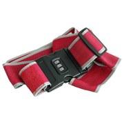 Koffergurt mit Zahlenschloss - Rot/Grau, KONVENTIONELL, Kunststoff (200cm)