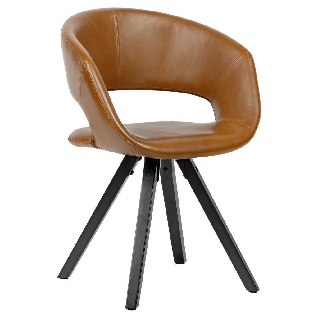 Židle s Opěrkou Armlehnstuhl Hnědá
