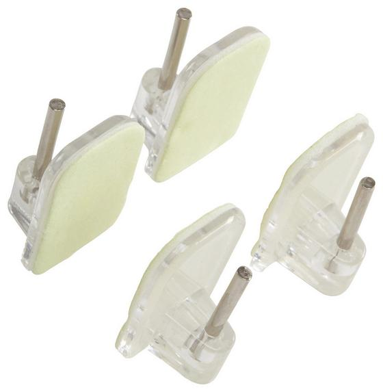 Öntapadós Kampó Benedikt - krómszínű/fehér, konvencionális, műanyag/fém (1.7/2.4cm) - OMBRA