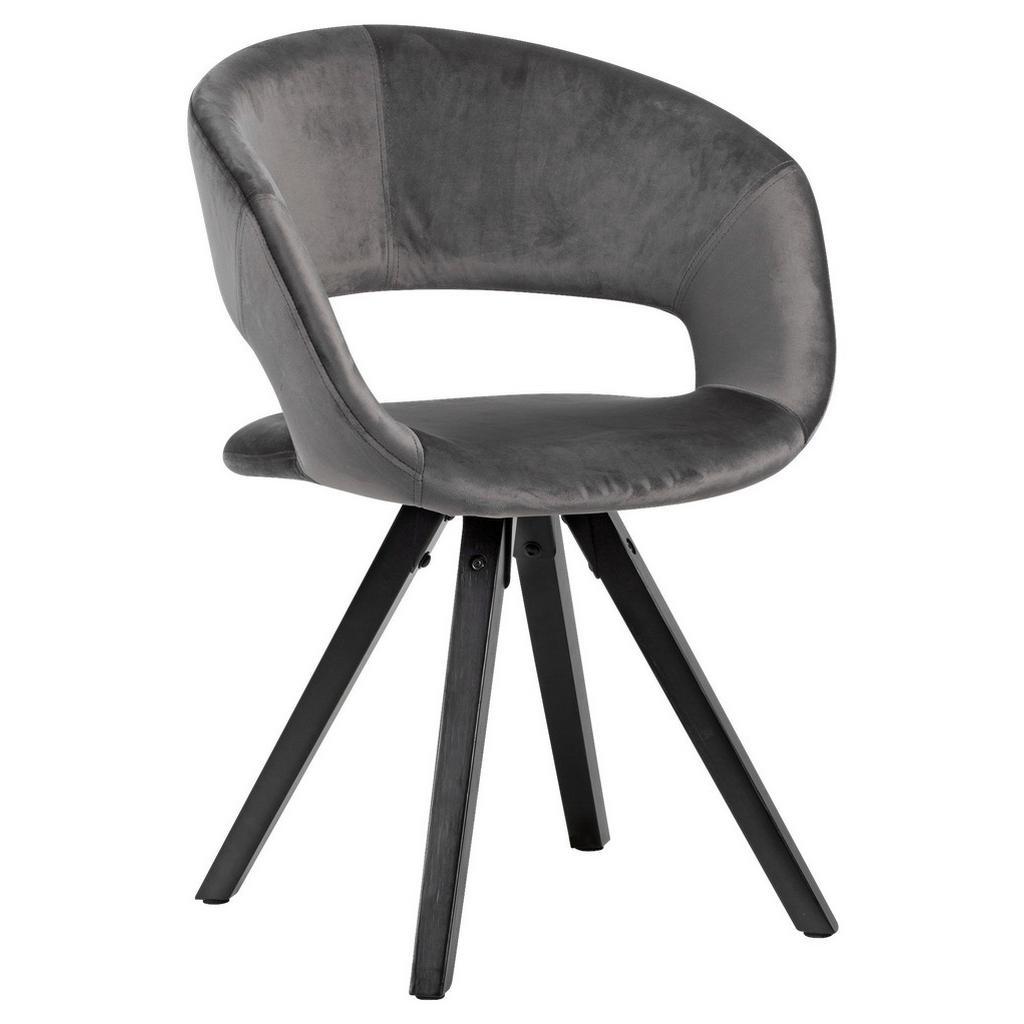 Židle s Opěrkou Armlehnstuhl Tmavěšedá