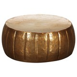 Couchtisch Rund aus Aluminium Jamal, Goldfarben - Goldfarben, LIFESTYLE, Metall (72/72/31cm) - MID.YOU
