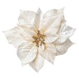 Dekoclip Poinsettie Burgi Creme - Creme, Basics, Textil (17cm)
