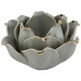 Teelichthalter Alexy - Grau, Basics, Keramik (11/7/10cm) - Luca Bessoni