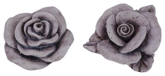 Dekoblume Ø 6 cm - Grau, MODERN, Stein (6cm)