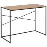 Schreibtisch B 100cm H 75cm Seaford, Wildeiche Dekor - Eichefarben/Schwarz, Trend, Holzwerkstoff/Metall (45/100/75cm) - MID.YOU