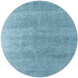 Hochflorteppich Nobel Micro 140 Rund - Blau, MODERN, Textil (140cm)
