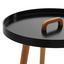 Príručný Stolík Uta - čierna/farby pínie, Moderný, drevo (49,5/49,5cm) - Mömax modern living