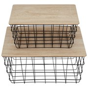Regalkorb Industrial Living - LIFESTYLE, Holz/Metall (38/28/19,5cm)