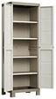 Kunststoffschrank Excellence Cabinet Hoch - Sandfarben/Grau, MODERN, Kunststoff (65/182/45cm)