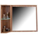 Zrcadlový Díl Avensis New - barvy dubu, Konvenční, dřevěný materiál/sklo (90/70/25cm) - LUCA BESSONI