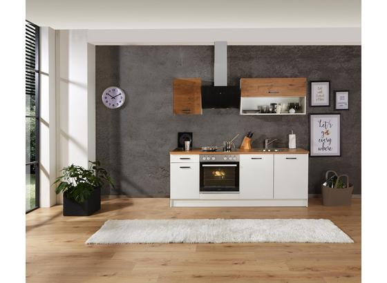 Küchenblock Prag - Eichefarben/Weiß, KONVENTIONELL, Holzwerkstoff (210/200/60cm)