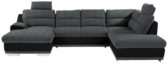 Sedací Souprava Seaside - šedá/černá, Moderní, textil (165/334/218cm) - Luca Bessoni