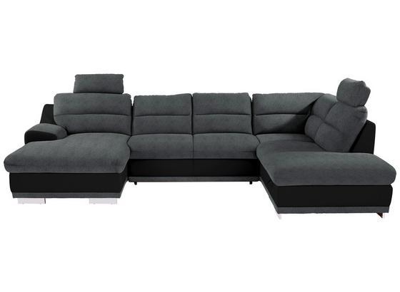 SEDACIA SÚPRAVA SEASIDE - čierna/sivá, Konvenčný, textil (165/334/218cm) - Luca Bessoni