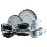 Kombiservice 16-Tlg. Set Spicy Market - Grau, Basics, Keramik (54,3/26,1/32,6cm)